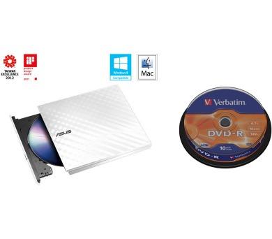 ASUS DRW-08D2S-U WHITE+ Verb. DVD-R 10cake