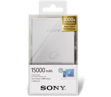 Sony přenosný zdroj USB - Powerbank CP-S15S stříbrný + DOPRAVA ZDARMA