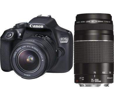 Canon EOS 1300D 18-55DC + 75-300DC