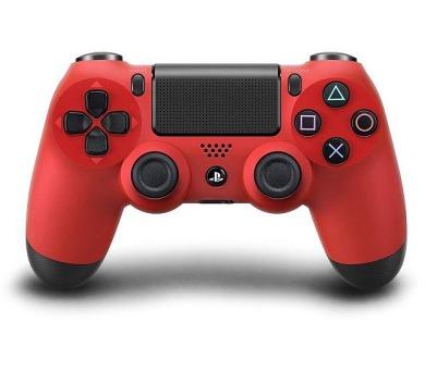Sony Dual Shock 4 pro PS4 v2 - červený + DOPRAVA ZDARMA