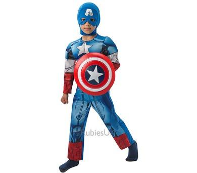 Avengers: Assemble - Captain America Deluxe - vel. M + DOPRAVA ZDARMA