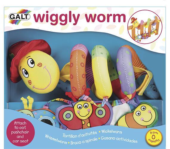 Červík Pepík - dětská hračka na postýlku