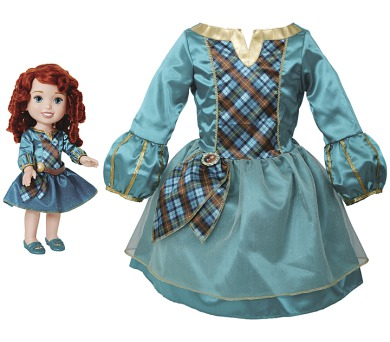 Disney princezna a dětské šaty - Merida/Rebelka