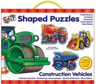 Tvarované puzzle – pracovní stroje
