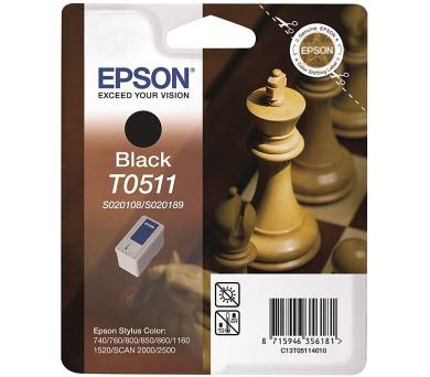 EPSON Ink ctrg černá SC740/760/8*0/1160/1520... T0511 + DOPRAVA ZDARMA