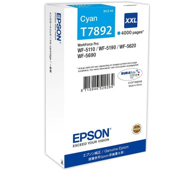 WF-5xxx Series Ink Cartridge XXL Cyan T7892