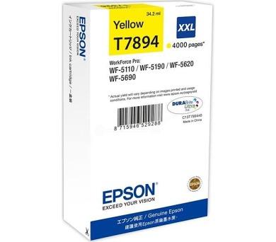 WF-5xxx Series Ink Cartridge XXL Yellow T7894 (C13T789440)