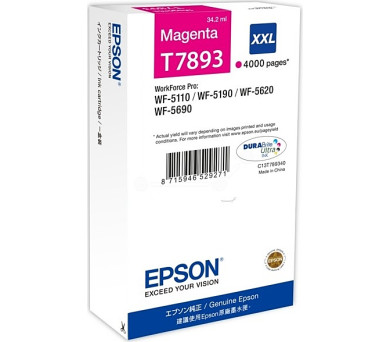 WF-5xxx Series Ink Cartridge XXL Magenta T7893
