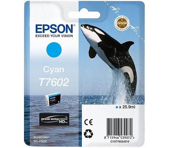 Epson T7602 Ink Cartridge Cyan (C13T76024010) + DOPRAVA ZDARMA