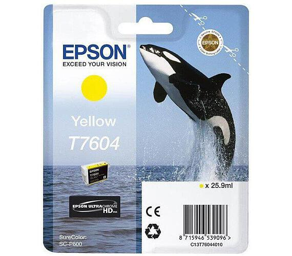 Epson T7604 Ink Cartridge Yellow (C13T76044010) + DOPRAVA ZDARMA