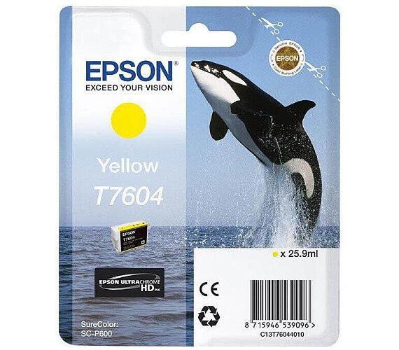 Epson T7604 Ink Cartridge Yellow + DOPRAVA ZDARMA