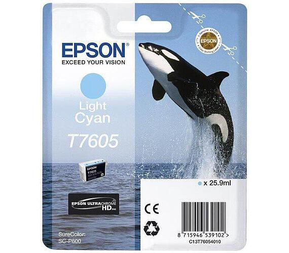 Epson T7605 Ink Cartridge Light Cyan (C13T76054010) + DOPRAVA ZDARMA