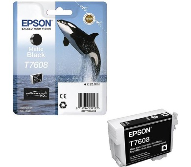 Epson T7608 Ink Cartridge Matte Black + DOPRAVA ZDARMA