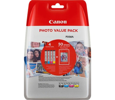 Canon CLI-571 C/M/Y/BK + 50x PP-201 (0386C006)