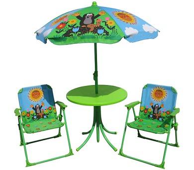 Zahradní set Krtek - 2 židle