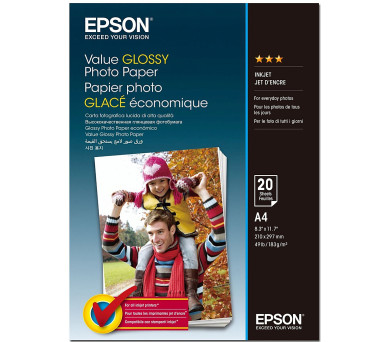 EPSON Value Glossy Photo Paper A4 20 sheet (C13S400035)