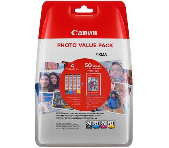 Canon CLI-571XL C/M/Y/BK + 50x PP-201 (0332C005)