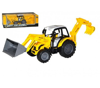 Traktor nakladač bagr 29cm na setrvačník v krabici
