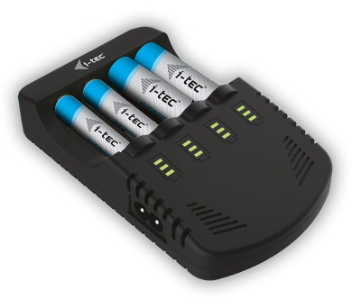 i-tec AA/AAA/9V Battery Charger 4 Channel