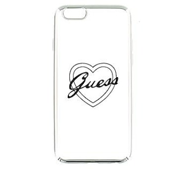 Guess Signature TPU Pouzdro Heart Silver pro iPhone 6/6S