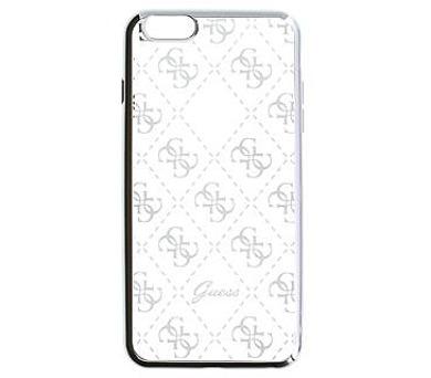 Guess 4G TPU Pouzdro Silver pro iPhone 6/6S Plus