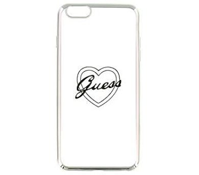 Guess Signature TPU Pouzdro Heart Silver pro iPhone 6/6S Plus