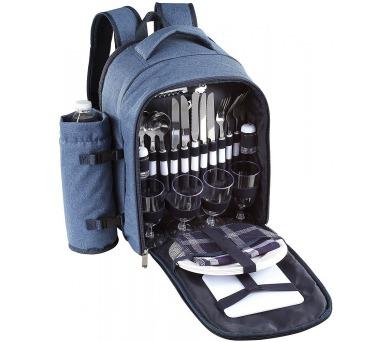 BeNomad SEP114B - Piknikový džínový batoh s příslušenstvím pro 4 osoby + DOPRAVA ZDARMA