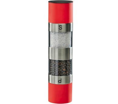 Kitchen Artist MEN328 red - Mlýnek na sůl a pepř 2 v 1 manuální.
