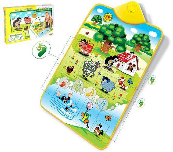 Elektronická hrací podložka Krtek a zvířátka 42x61cm v krabici + DOPRAVA ZDARMA