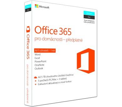 Office 365 Home 32-bit/x64 SK pronájem