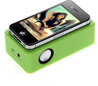 Zelený silikonový reproduktor