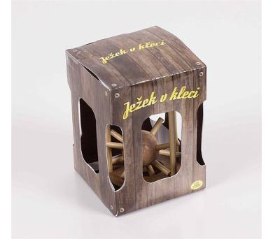 Albi Ježek v kleci dřevěný