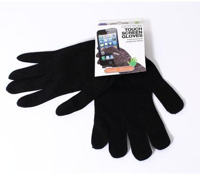 Černé rukavice na dotykový displej