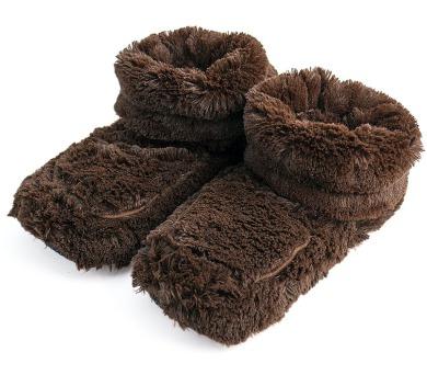Albi Hnědé hřejivé botičky