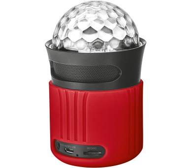 TRUST Dixxo Go Wireless Bluetooth Speaker with party lights - red (21346)