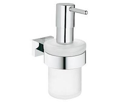 Grohe Essentials Cube - dávkovač tekutého mýdla s držákem (40756001) + DOPRAVA ZDARMA