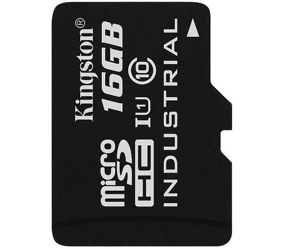 KINGSTON 16GB microSDHC / UHS-I Industrial Temp / U1 / bez adaptéru (SDCIT/16GBSP)