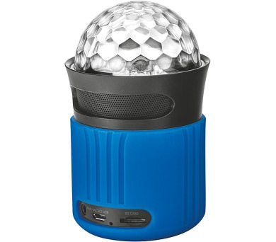 TRUST Dixxo Go Wireless Bluetooth Speaker with party lights - blue (21347)