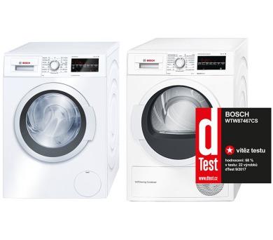 Bosch WAT28460BY + Sušička Bosch WTW87467CS