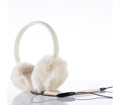 Sluchátka zimní bílá
