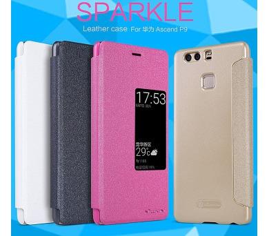 Nillkin Sparkle S-View Pouzdro Gold pro Huawei Ascend P9