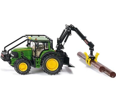 SIKU Farmer - Lesnický traktor John Deeres nakládací lžící a kládami 1:32 + DOPRAVA ZDARMA