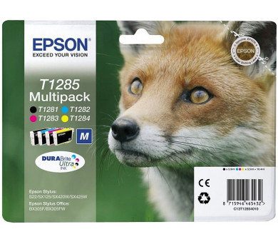 Multipack CMYK Ink Cartridge (T1285) (C13T12854012)