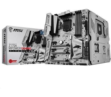 MSI MB Sc LGA1151 Z170A MPOWER GAMING TITANIUM EDITION
