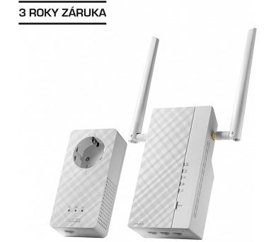 ASUS PL-AC56 Kit 1x Powerline Wireless AC1200 Extender AV1200 + 1x Powerline Adapter AV1200