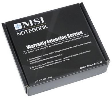 MSI ACC záruka pro NB MSI +1 rok (na 3roky) nutno zakoupit do 90 dnů od koupě NB a pak do 30 dnů aktivovat