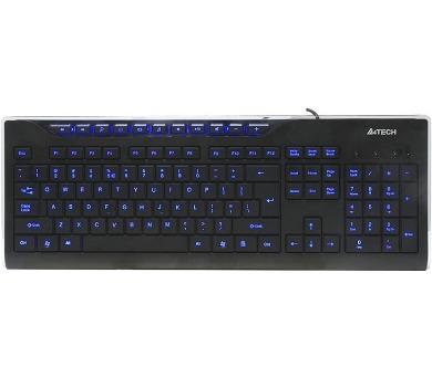 A4tech multimediální klávesnice KD-800L modře podsvícená