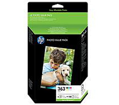 HP 363 Series ink 6ks + 150ks 10x15 Photo Paper Value Pack + DOPRAVA ZDARMA