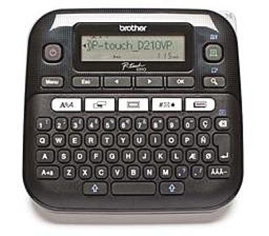 Brother PT-D210VP Tiskárna samolepících štítků s kufříkem