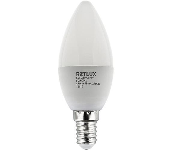 Retlux RLL 259 C35 E14 svíčka 6W WW